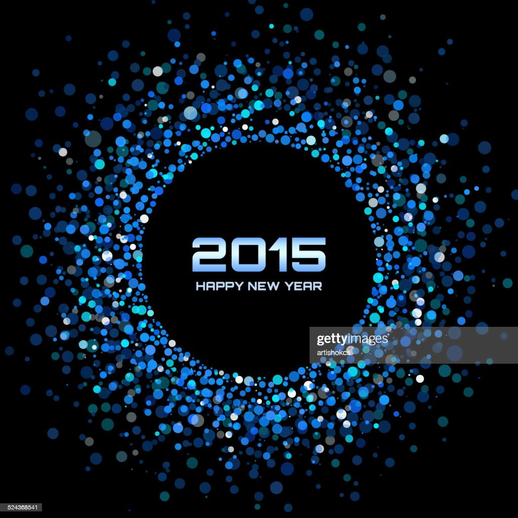 Blue Bright New Year 2015 Background
