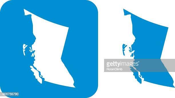 blue british columbia icons - british columbia stock illustrations
