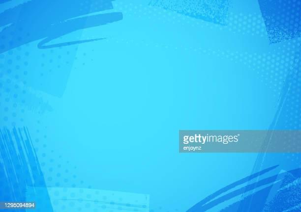 ilustraciones, imágenes clip art, dibujos animados e iconos de stock de patrón de pincel azul fondo - fondo azul