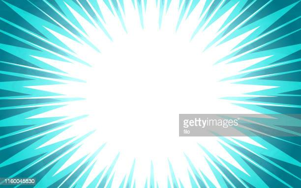 blue burst explosion abstract background - announcement message stock illustrations