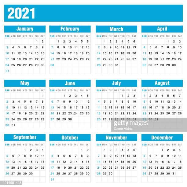 白い背景のストックベクトルのイラスト上の2021青いカレンダー - 五月点のイラスト素材/クリップアート素材/マンガ素材/アイコン素材