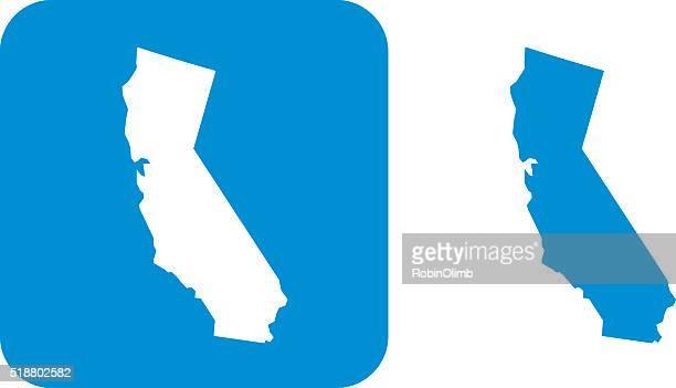 カリフォルニアのアイコンブルー - カリフォルニア州点のイラスト素材/クリップアート素材/マンガ素材/アイコン素材