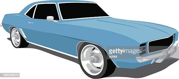 Blue Camaro 1969