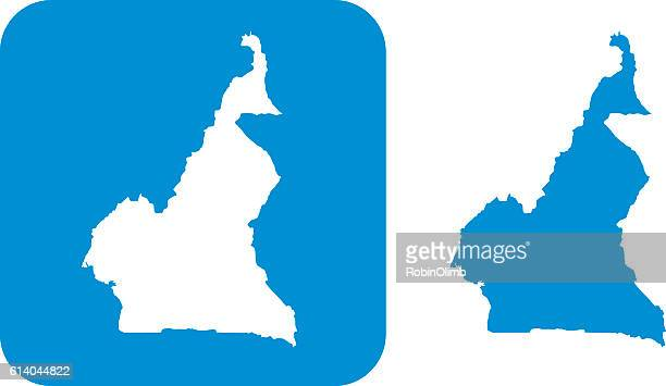 blue cameroon icons - cameroon stock illustrations, clip art, cartoons, & icons