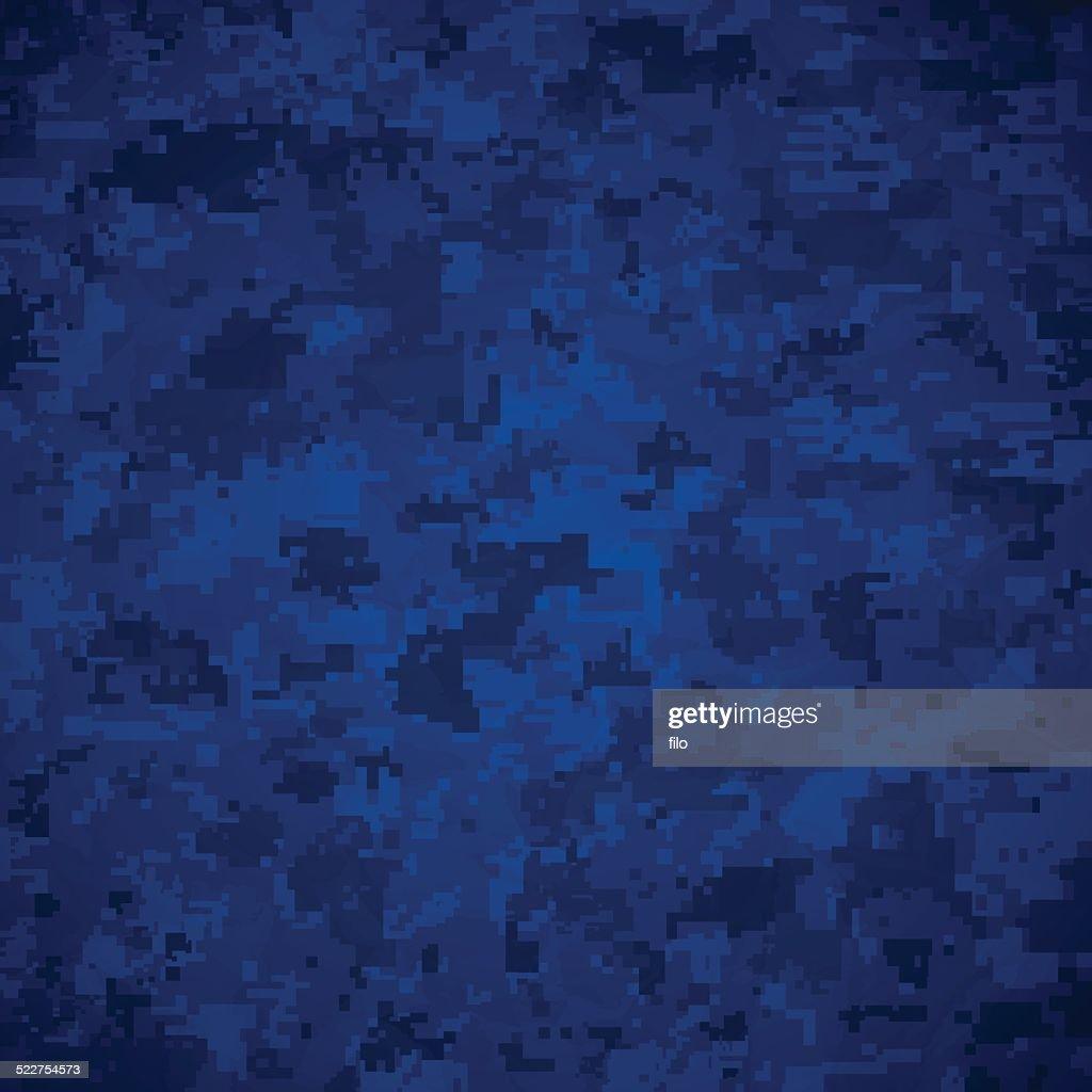 Blue Camoflage Pattern