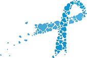 Blue Cancer Ribbon Awareness