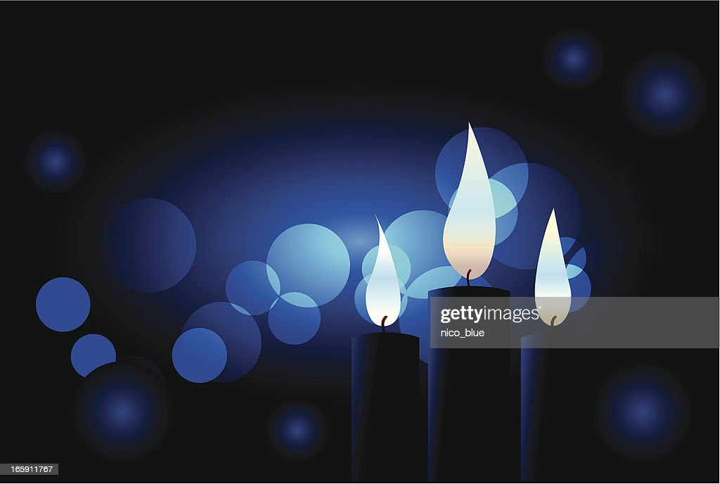Blue candles : stock illustration