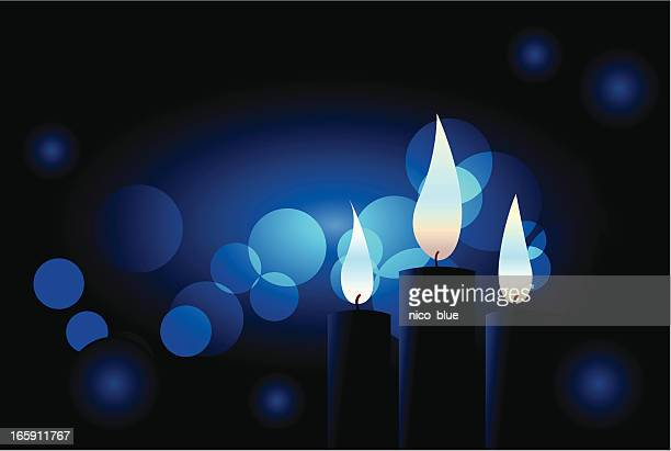 blue candles - candle stock illustrations, clip art, cartoons, & icons