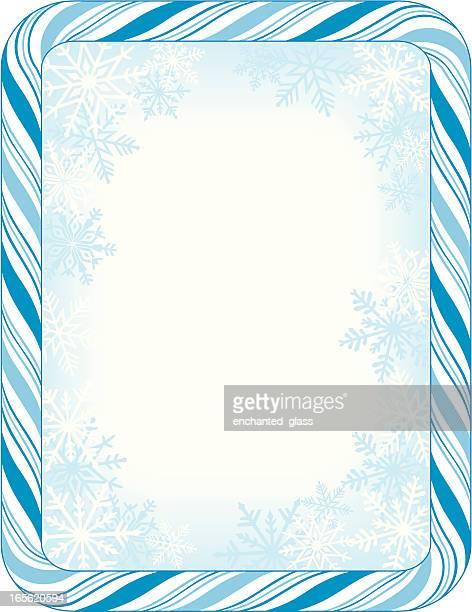 Blue Candy Cane Frame