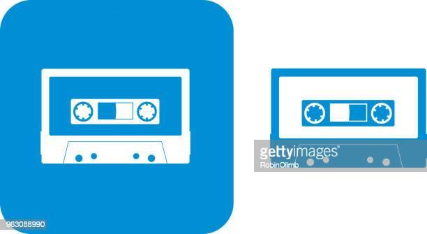 Blue Cassette Icons