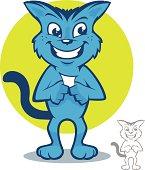 Blue Cat Cartoon