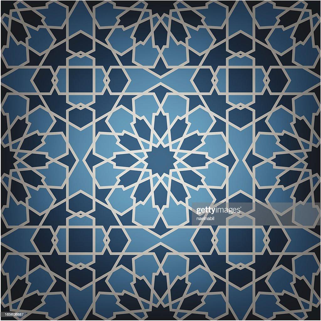Blue Ceramic Islamic tile