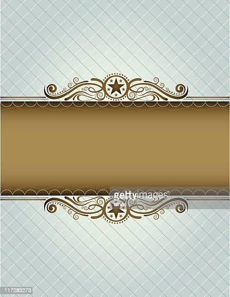 ブルーチェスターフィールドフレーム - スカラップ模様点のイラスト素材/クリップアート素材/マンガ素材/アイコン素材