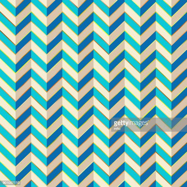 blue chevron background - zigzag stock illustrations, clip art, cartoons, & icons