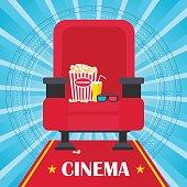 blue cinema poster