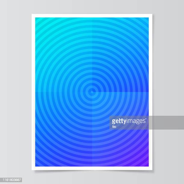 blue circle abstract background paper fold - hypnosis stock illustrations