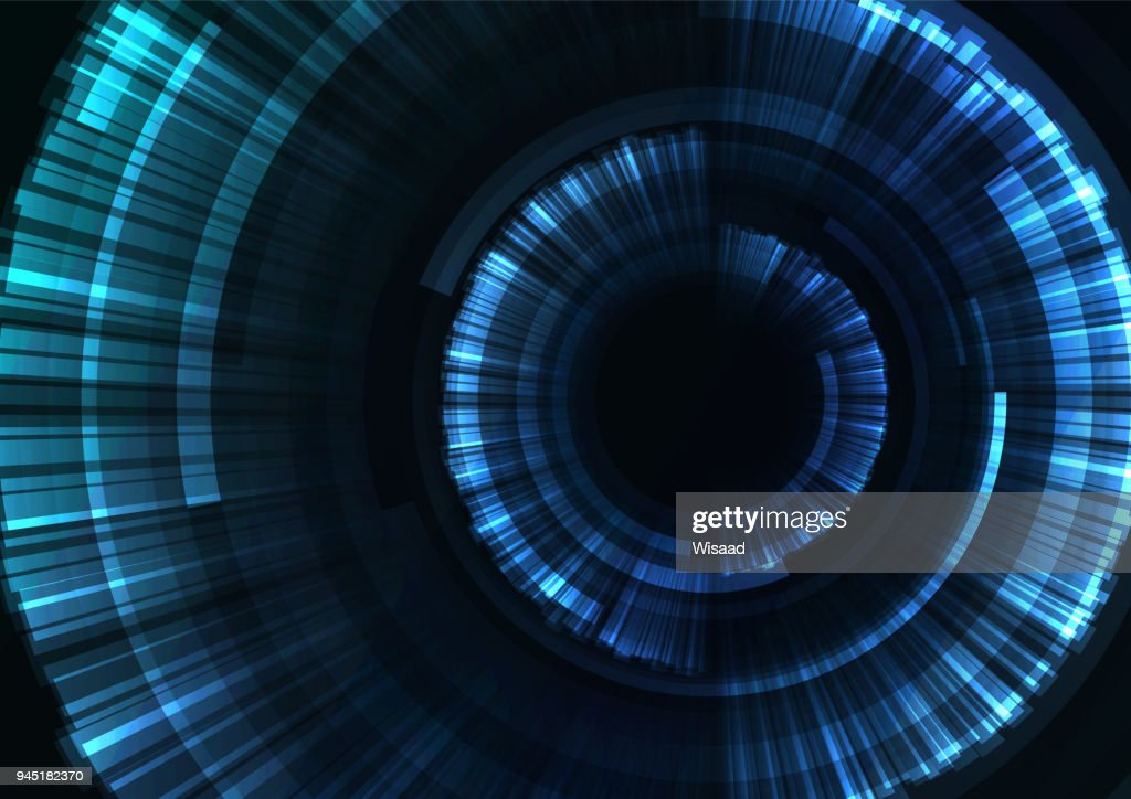 blue circle digital blast abstract sheet background