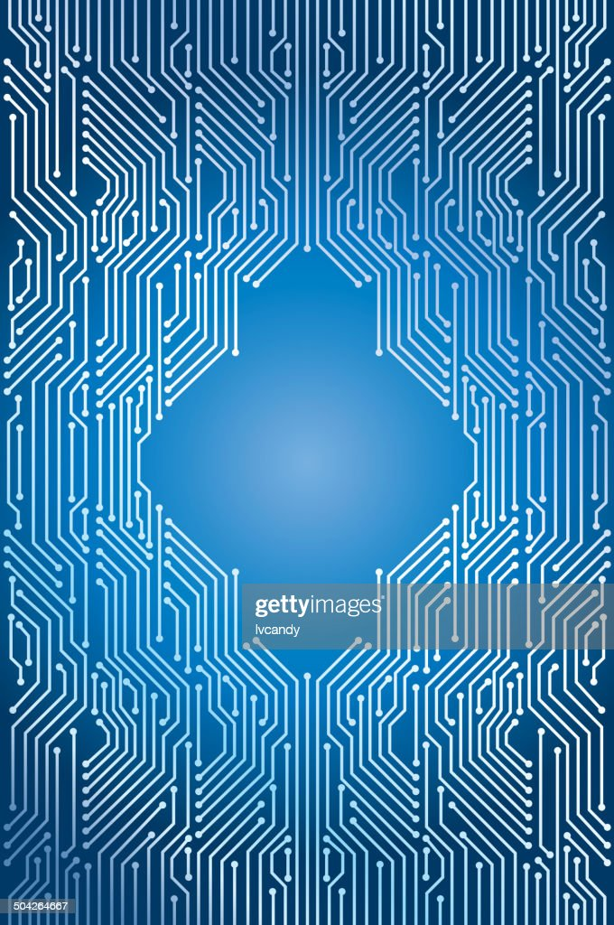 Blue circuit background