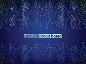 Blue circuit board vector illustration.