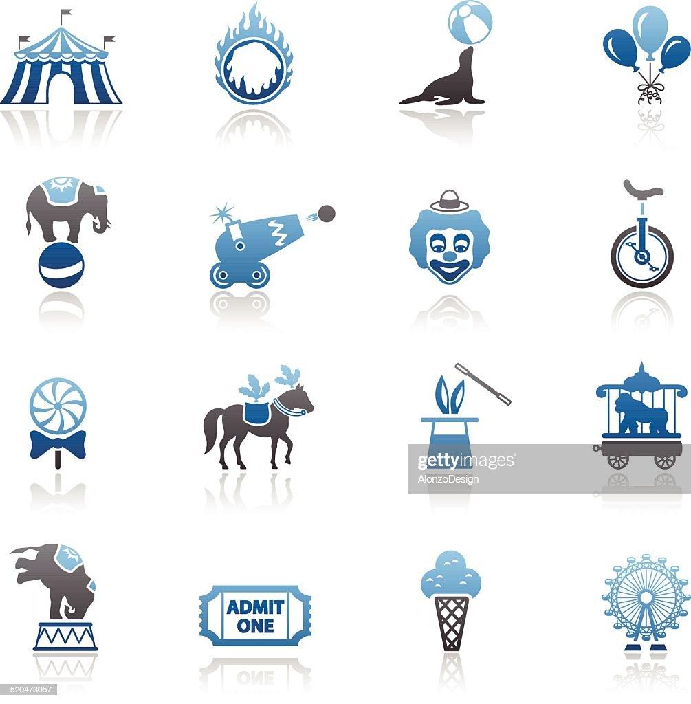 Blue Circus Icon Set