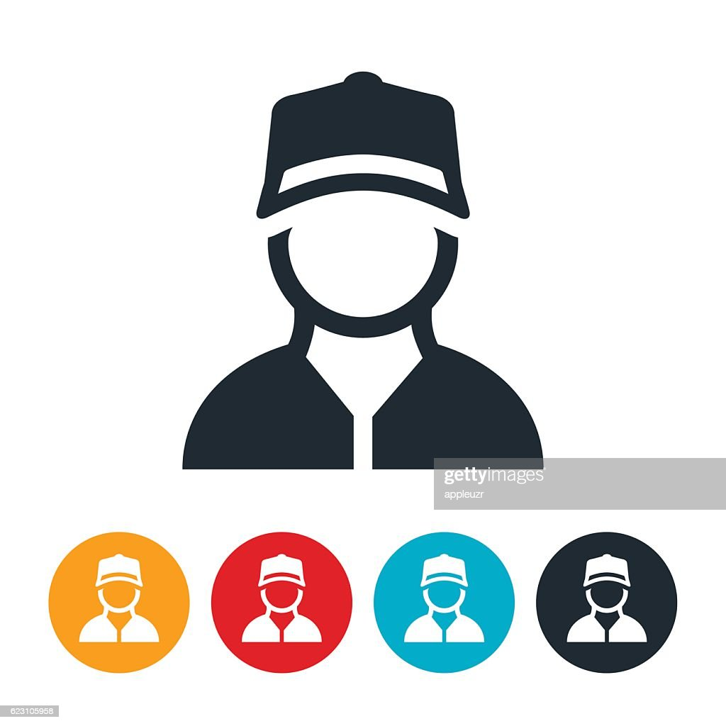 Blue Collar Worker Icon : stock illustration