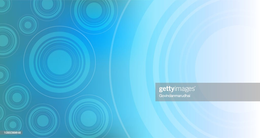 Blue Color Circle Shape Technology Abstract Background High