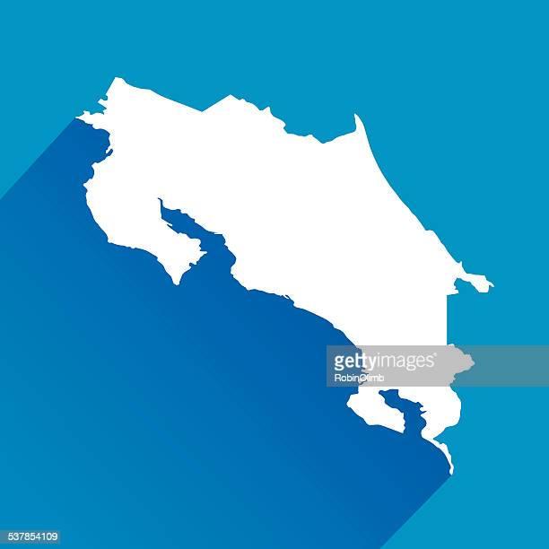 blue costa rica map - costa rica stock illustrations, clip art, cartoons, & icons