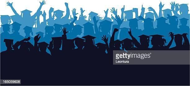 Blue Crowd of Graduates