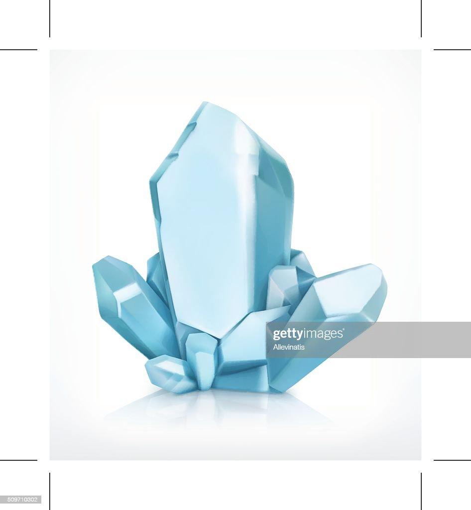 Blue crystal icon