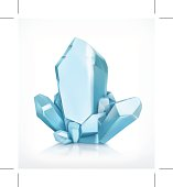 Blue crystal icon