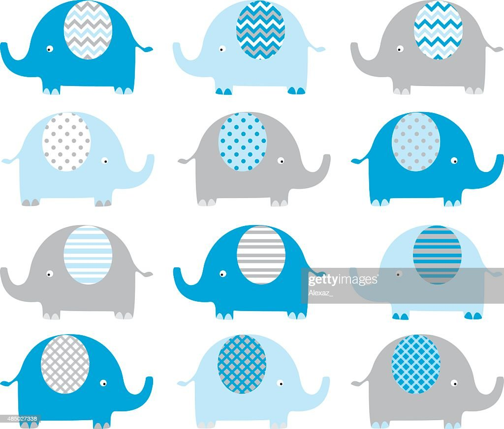 Blue Cute Elephant Collections