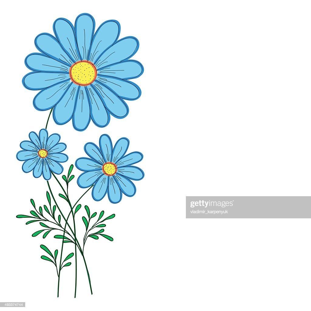 blue daisy vector illustration