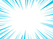 Blue Dash Lines Explosion