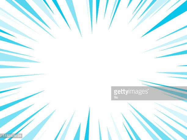 blue dash lines explosion - concentration stock illustrations