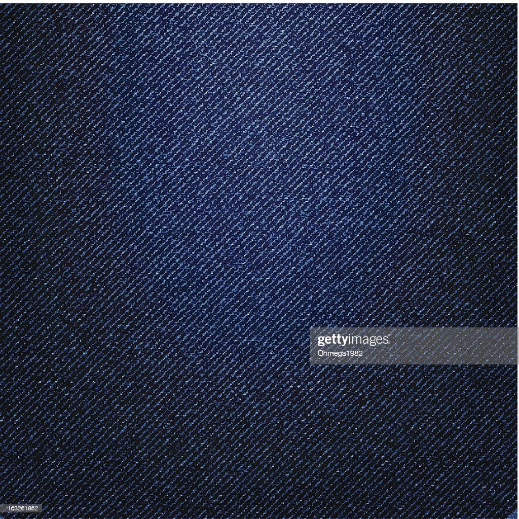 Blue Denim Texture Background, Vector Illustration.