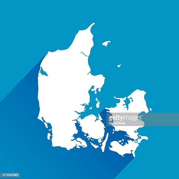 Blue Denmark Map Icon