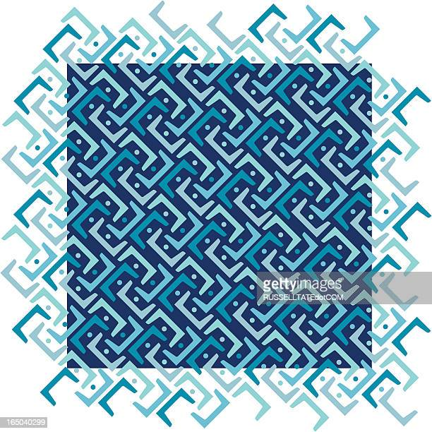 Blue Diagonal Pattern