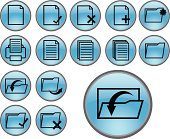 blue document and folder icons