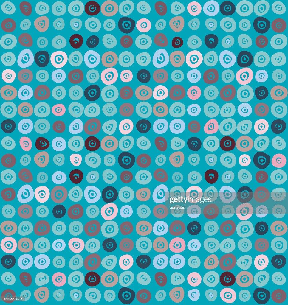 blue  doodle  seamless  pattern : Stock Illustration