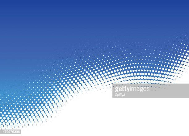 blue dot abstract halftone background - half full stock illustrations