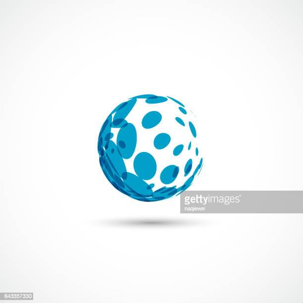 blue dots Sphere icon