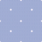 blue dotted lacy seamless pattern