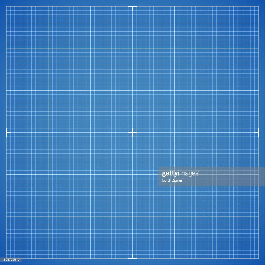 Blue drawing millimeter paper with linear markings. Vector Illustration