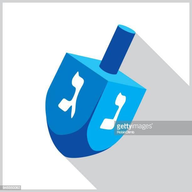 blue dreidel icon - dreidel stock illustrations, clip art, cartoons, & icons