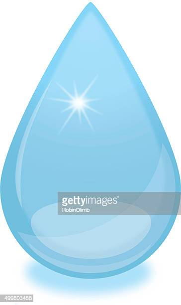Blue Drop Of Water