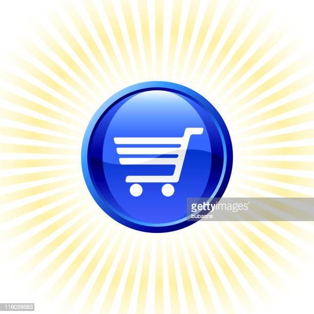 blau elektronischen handel lizenzfreie vektorgrafiken auf goldenen strahlen hintergrund - corona sun stock-grafiken, -clipart, -cartoons und -symbole