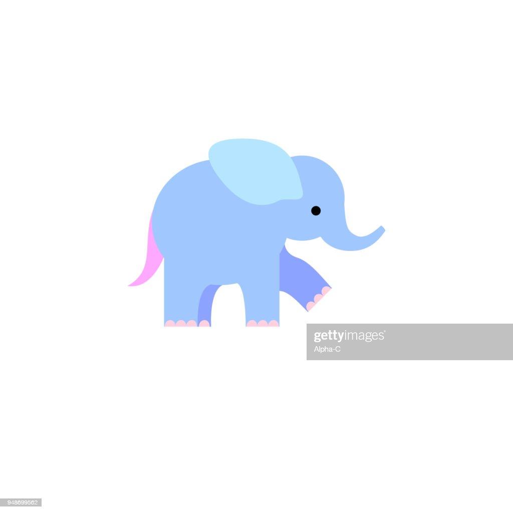 Blue elephant illustration