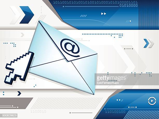 blue email background - genetic modification stock illustrations, clip art, cartoons, & icons