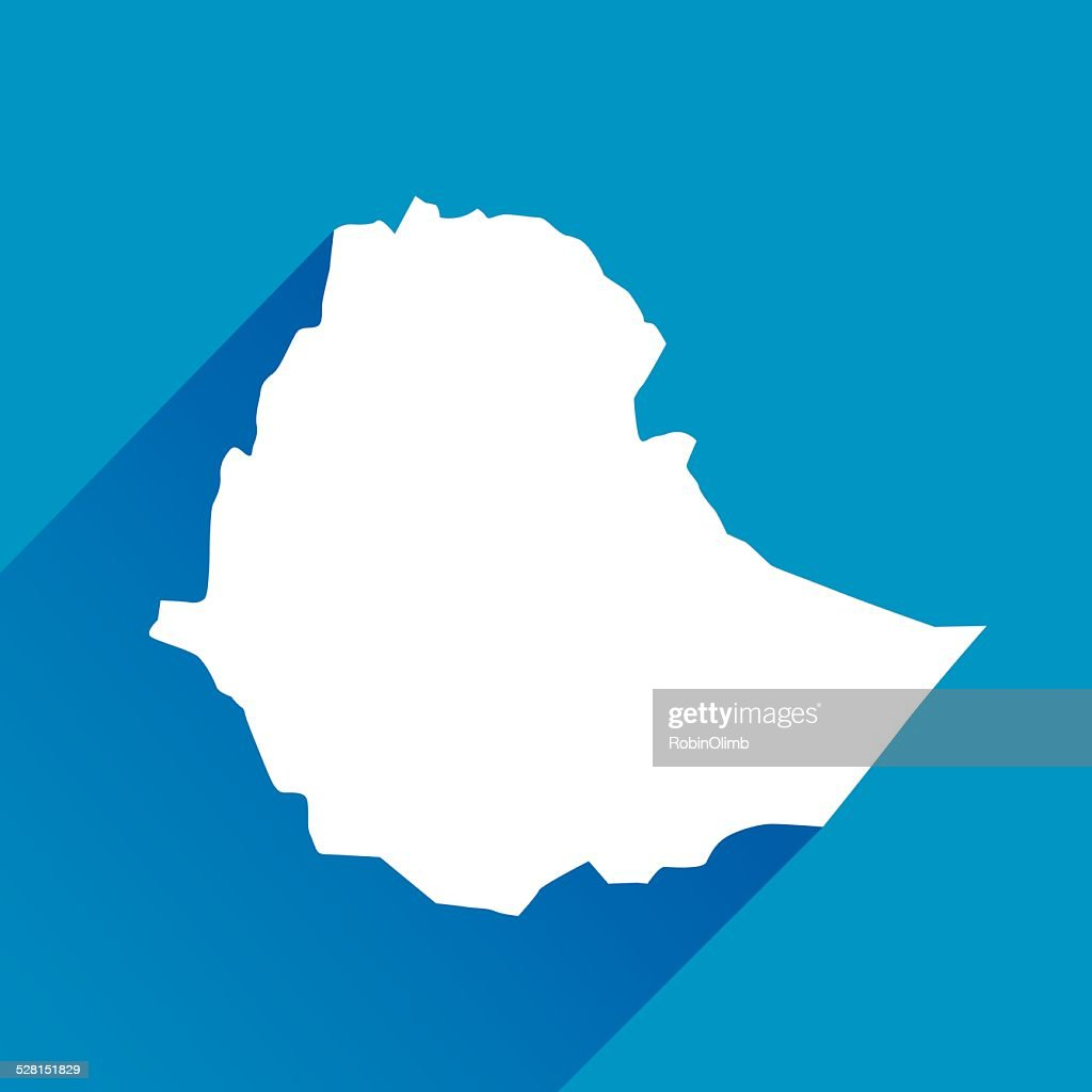 Blue Ethiopia Map Icon : Stock Illustration