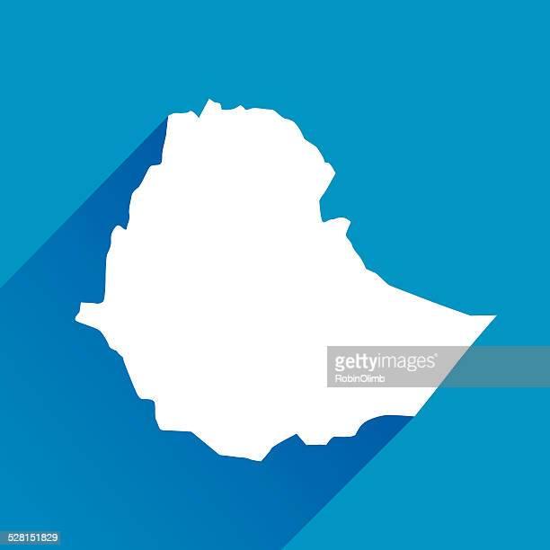blue ethiopia map icon - ethiopia stock illustrations, clip art, cartoons, & icons